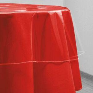 Tovaglia in PVC trasparente con diametro da 180 cm e spessore di 100 micron