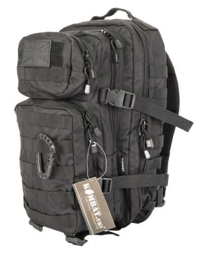 Bag Rucksack Backpack Black SMALL 28L Molle Assault Pack by Kombat UK