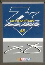 Jimmie Johnson #48 2016 7x Champions 2-Sided GARDEN Flag Banner Nascar Racing