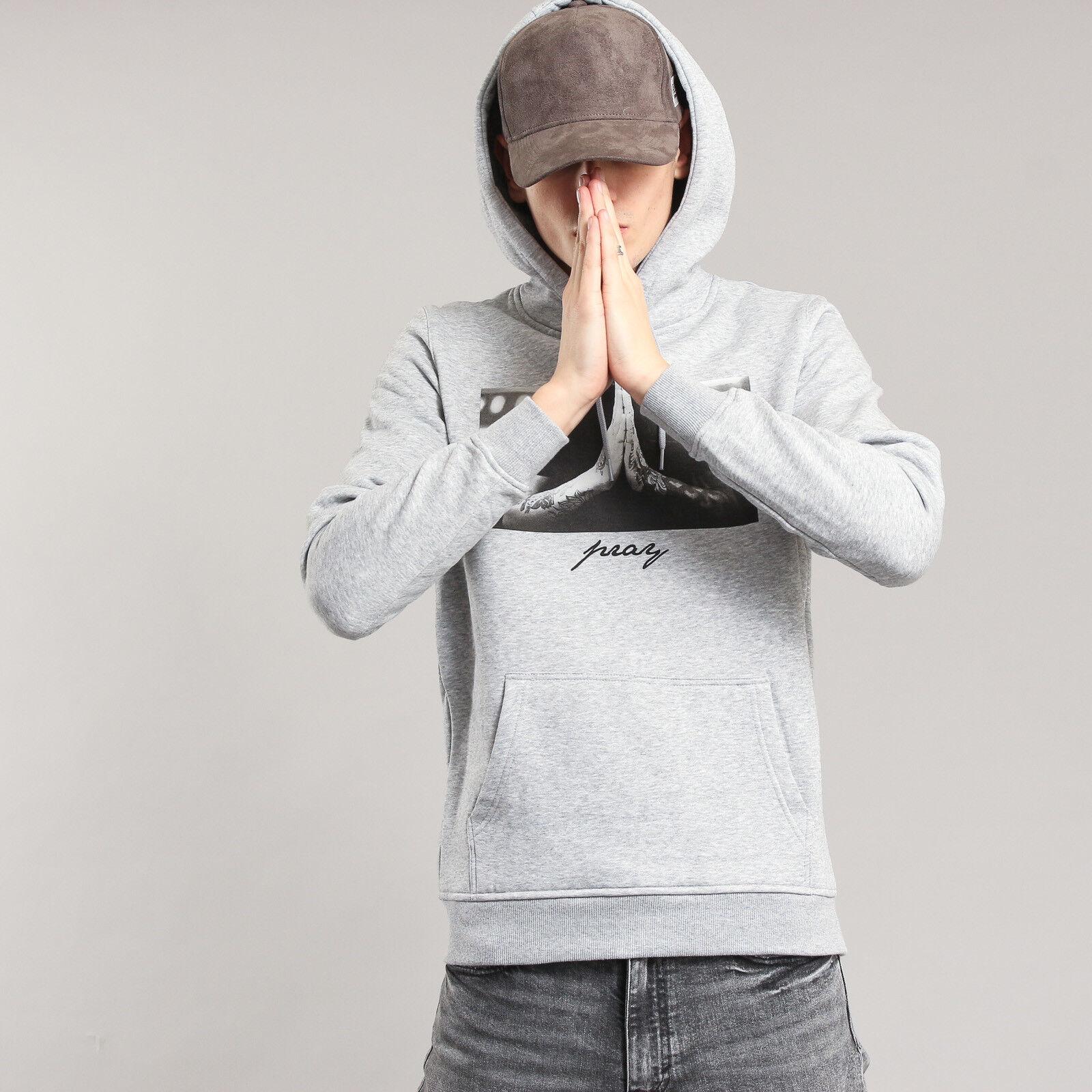 Urban Classics Pray Hoodie melange grau M, Grau, MT275