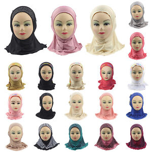 Muslim-Kids-Baby-Girls-Hijab-Scarf-Islamic-Breathable-Caps-Shawls-Arab-Headscarf