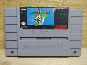 Super Mario World (SNES, 1991) Super Nintendo Cartridge Only Tested Authentic