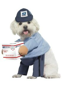 USPS-Dog-Mail-Carrier-Dog-Costume-SIZE-SMALL-missing-box