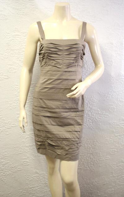 5282a212db BCBG Gravel (slp61747) Mini Tiere Strap Cotton Dress 6 for sale online