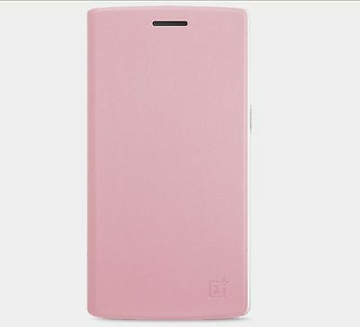 100% Original Colorful PU Leather Flip Case Cover For Oneplus One A0001 pink