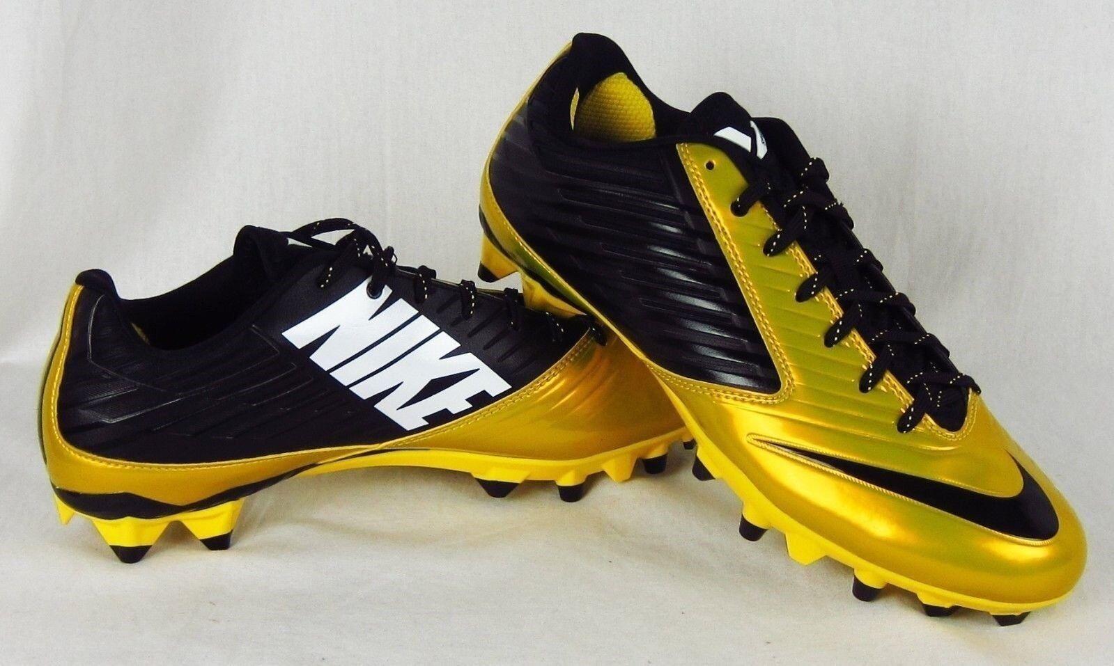 New Nike Men's Vapor Low Football Cleats Yellow