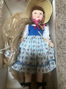 RARE-Vintage-Effanbee-Doll-BECKY-THATCHER-Great-Moments-In-Literature-Mark-Twain