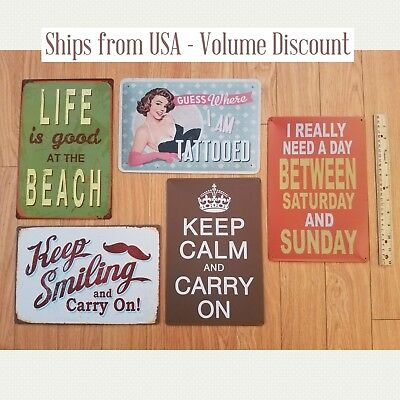 Cute Home Decor Funny Tin Signs Modern Wall Signs Cute Dorm Signs KCCO  Signs