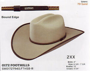 688cde75ff27c Image is loading Stetson-2X-Foothills-Wool-Felt-Bound-Edge-Cowboy-