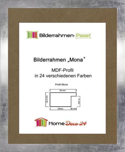 Mona 43,5 x 91 cm Bilderrahmen Homedeco 24 Holzwerkstoff Wahl Farbe Verglasung