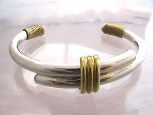 Taxco-Mexico-925-Sterling-Silber-Manschette-Armreif-Armband-24-Gramm