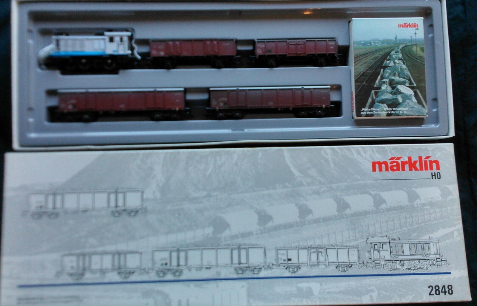 Set tren mercancías transporte de cemento Marklin 2848