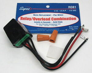 image is loading r081-supco-refrigerator-relay-overload-for1-12-1-