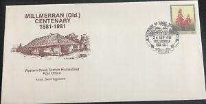 Australian FDC1981 Millmerran (QLD) Centenary Western Creek Station Homestead PO