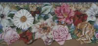 Tracy Porter Country Floral Sculptured Extra Wide Wallpaper Border