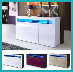 Meuble Buffet Salon Design buffet commode armoire leds meuble laqué / bois chambre à coucher