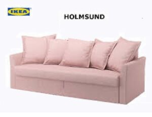 Image Is Loading Ikea Holmsund Sofabed Cover Ramna Light Pink Sofa