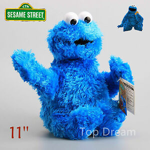 NEW-OFFICIAL-Sesame-Street-Cookie-Monster-Beanie-Plush-Toy-Soft-Doll-11-039-039-Teddy