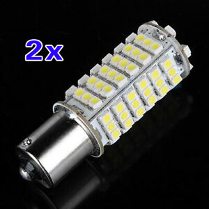 2X-Voiture-1156-382-BA15S-P21W-Blanc-102-SMD-LED-Arriere-frein-Signal-Ampoule-1T