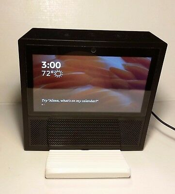 Black Amazon echo show 1/&2 tilting STAND 3D printed view at multiple angles