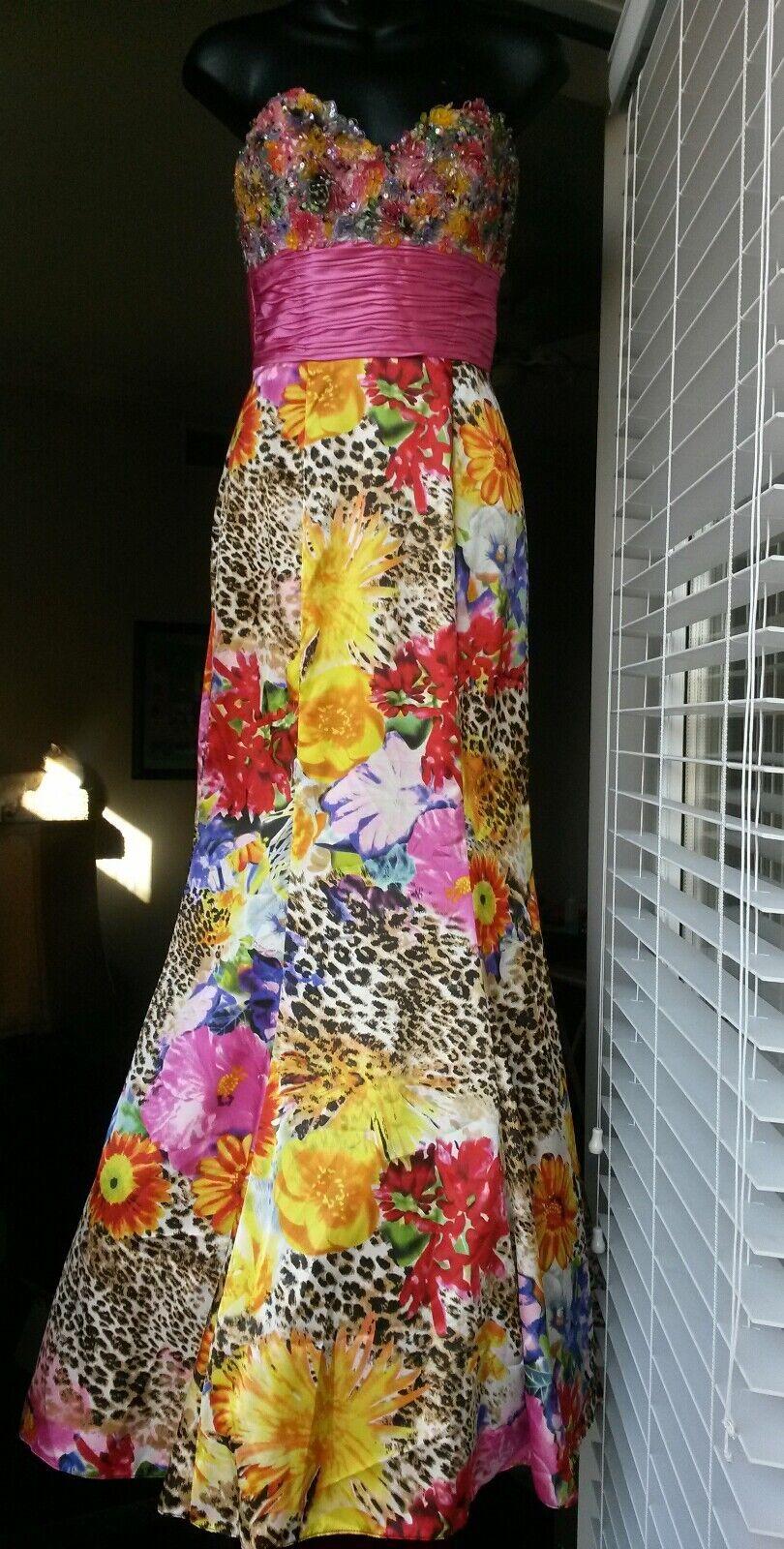 Jovani floral leopard prom wedding multiFarbe prom wedding dress 2