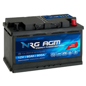 nrg agm autobatterie 12v 80ah 800a en start stop plus vrla. Black Bedroom Furniture Sets. Home Design Ideas