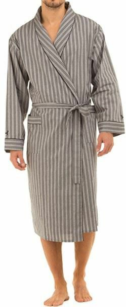 HAI-7396 Mens Lightweight Poplin 100/% Cotton Dressing Gown Wrap By Haigman