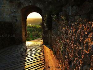 CITY-DOOR-MONTERIGGIONI-TUSCANY-ITALY-PHOTO-ART-PRINT-POSTER-PICTURE-BMP131A