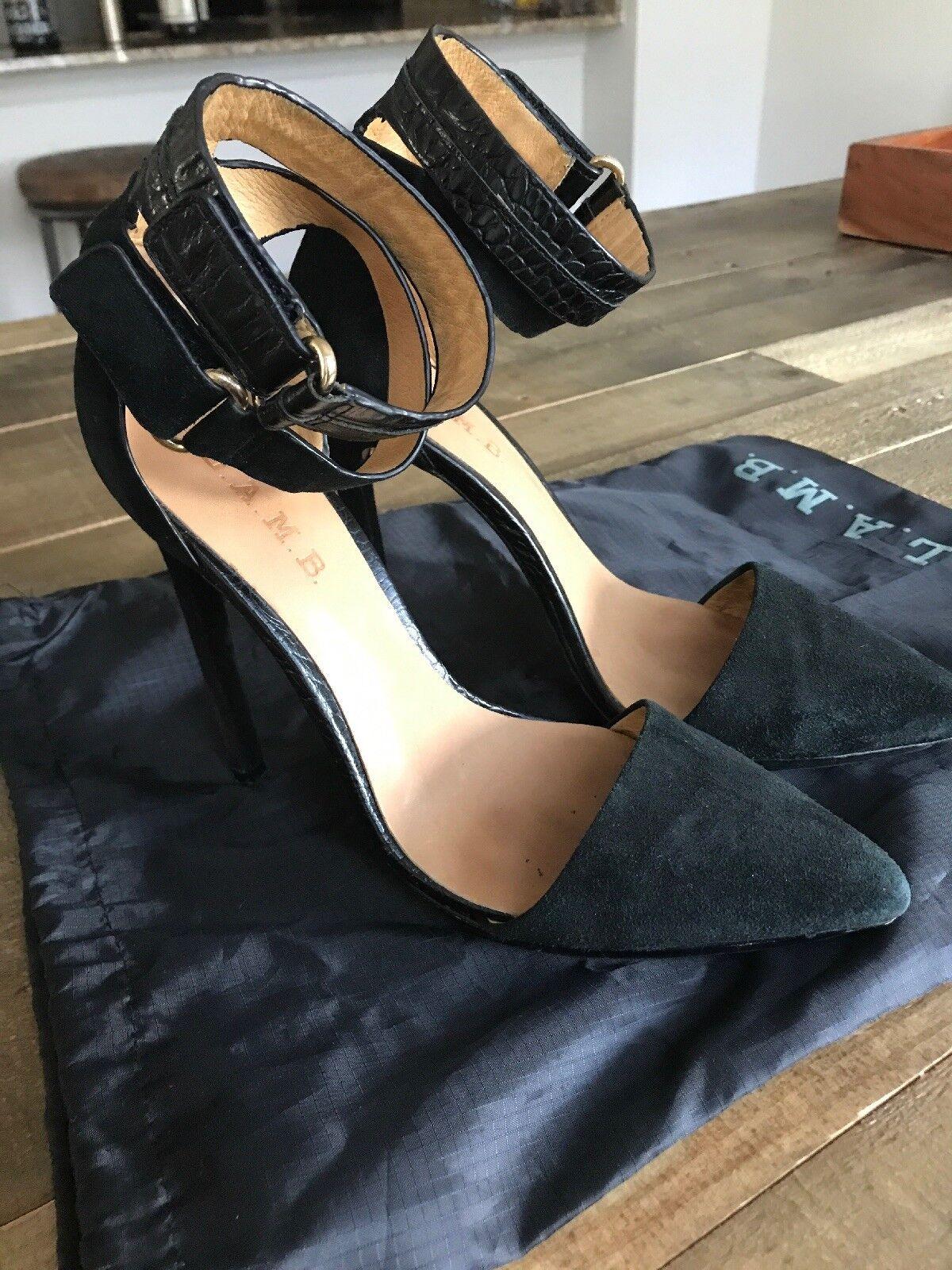 L.A.M.B. Suede Heels 8 Günstige und gute Schuhe