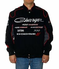 Dodge Charger Jacket Mens Collage CLG4 Embroidered Logos Mens Dodge Jacket NEW