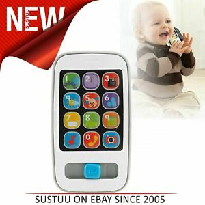 Fisher-Price-Laugh-amp-Learn-Bbay-Mobile-Phone-Grey-With-Songs-amp-Phrases-6-Months