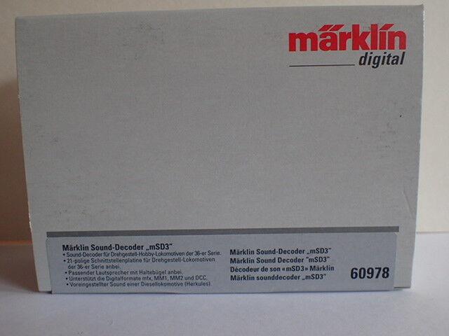 60978 Sound Decoder msd3 OVP Diesel HERKULES 21pol NEM MFX mm1 +2 DCC