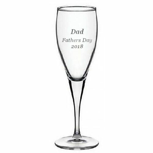Personalised 6oz Champagne Flute Fathers Day Daddy Gift Engraved Any Message