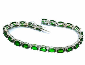 20-46ctw-Diamond-and-Chrome-Diopside-Bracelet-In-14kt-White-Gold