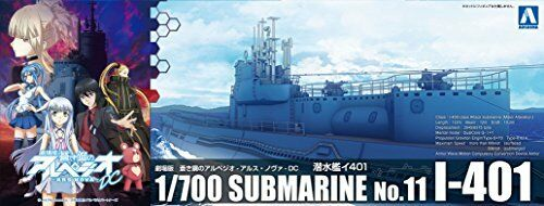 Aoshima Arpeggio of bluee Steel Submarine I-401 Plastic Model Kit from Japan NEW