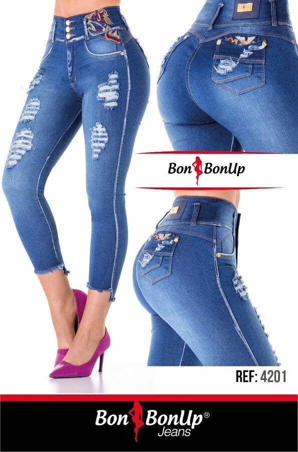 Jeans Colombianos Butt Lifter Fajas colombianas debout Cola Bon Bon 4201