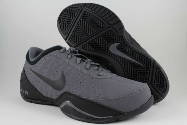 b7d505214c86 NIKE AIR RING LEADER LOW DARK GRAY BLACK BASKETBALL NUBUCK LEATHER US MENS  SIZES