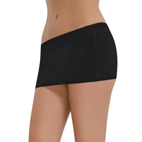 Women See Through Short Bodycon Dress Micro Mini Skirt Night Clubwear Costumes