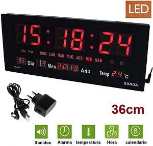 Calendrier Digital.Details Sur Montre Mural Et Table Digital Grande Bureau Temperature Calendrier Alarme