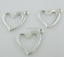 100//150pcs Argent Antique Coeur Charms Crafts Pendentifs Jewelry Findings Making