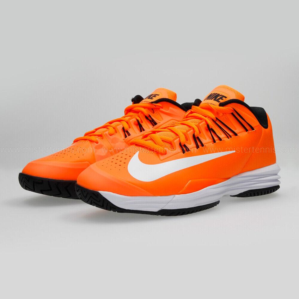 Nike Lunar Ballistec 1.5 Tennis shoes orange White Black Men's SZ 15 705285-802