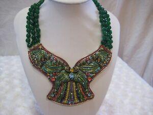 HEIDI-DAUS-034-Ornamental-Elegance-034-Butterfly-Look-Beaded-Necklace-Orig-399-95