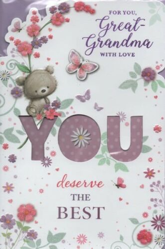 Great Grandma Happy Birthday Card Great-Grandma With Love For You