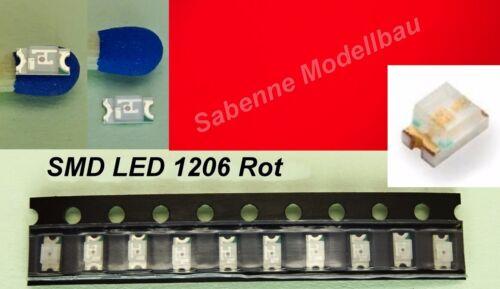 10 Stück SMD LED 1206 Rot C2881