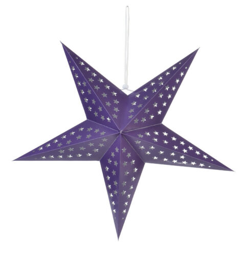 """Hanging Decoration 24/"""" Solid Purple Cut-Out Paper Star Lantern"""