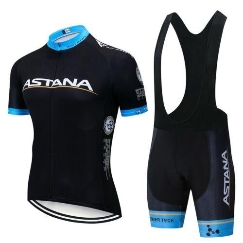divisa bici Completo ciclismo estivo Alta qualità-Team ASTANA Cyclling Set