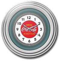 Kitchen Retro Coca-cola Chrome Clock - High Gloss Chrome Molded Case - 12