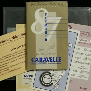 1987-Plymouth-Caravelle-Operators-Owners-Manual