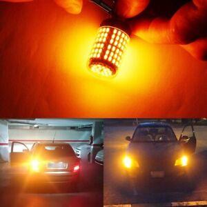 2Pcs-Super-Brillante-No-Canbus-Coche-Hyper-Flash-1156-Luz-LED-Ba15S-P21W-144Smd-M5L