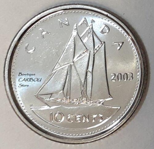 2003 Canada New Effigy 10 Cents BU